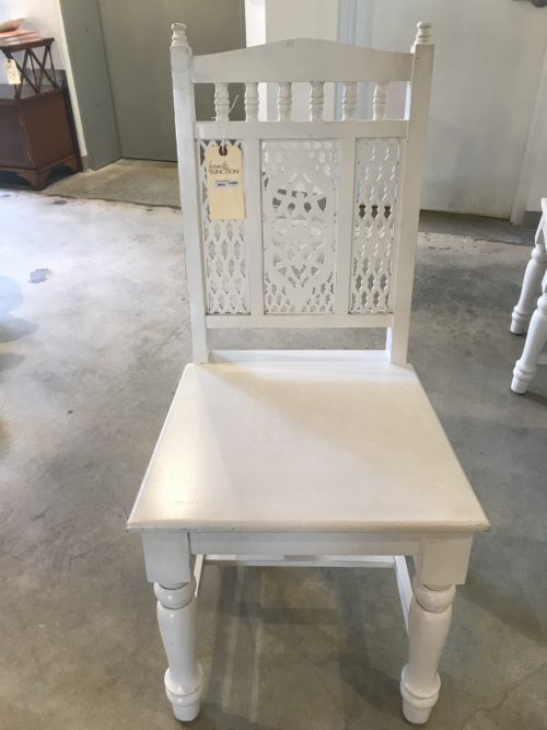 White Cut Out Chair