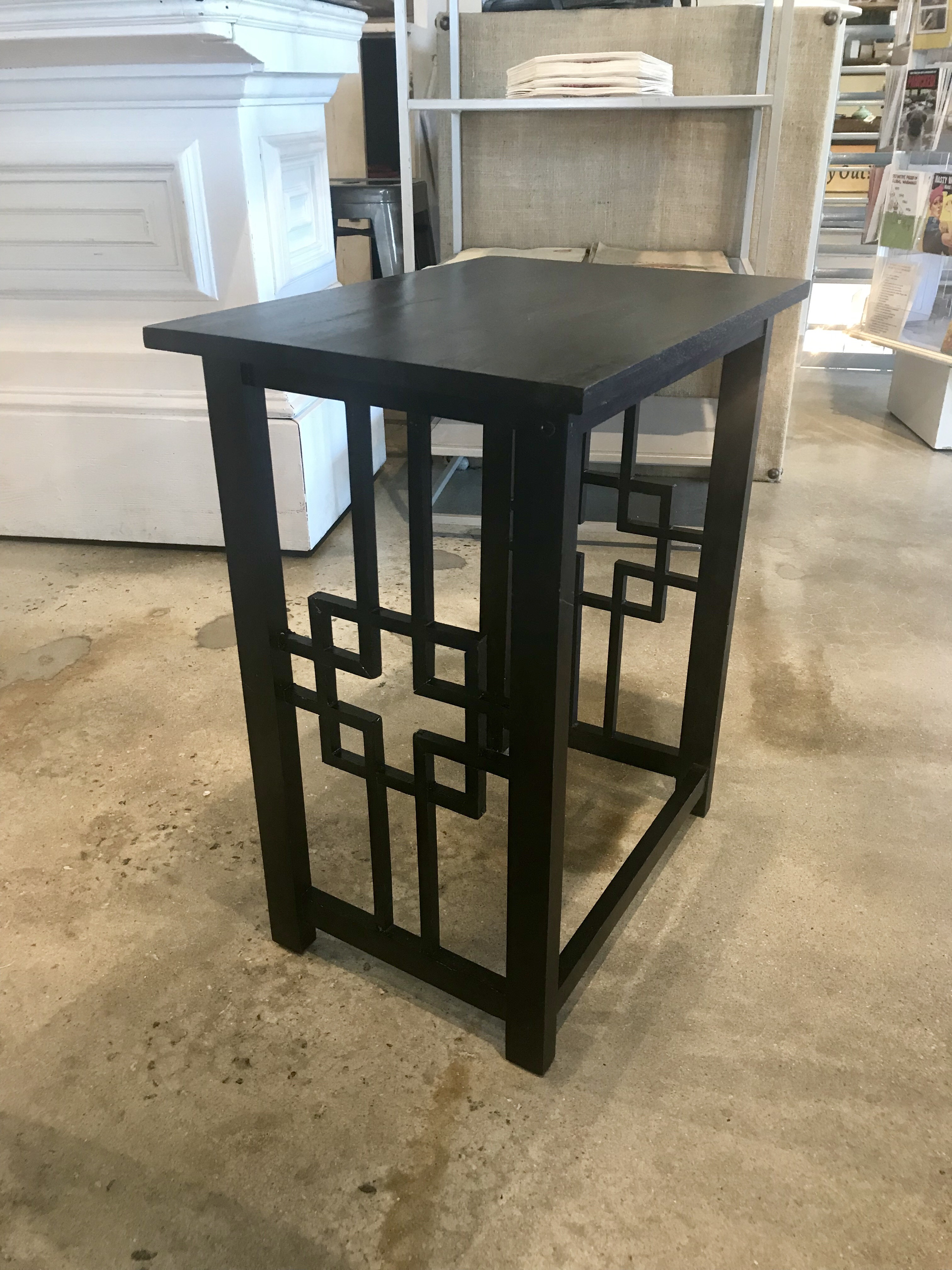 Black Cut Out Table