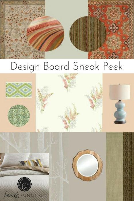 design board sneak peek, texture, color, pattern in Raleigh NC