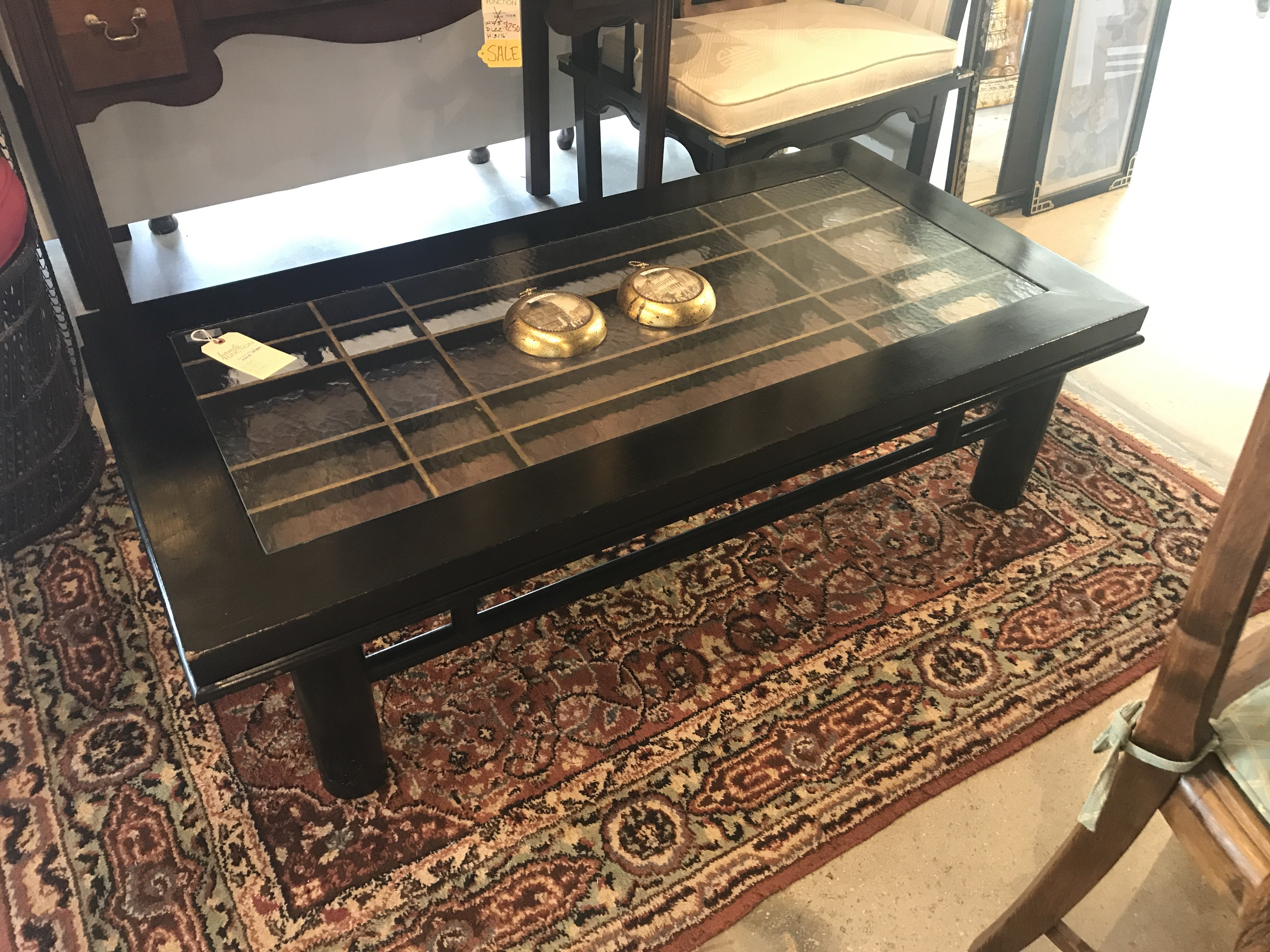 Black Asian Coffee Table