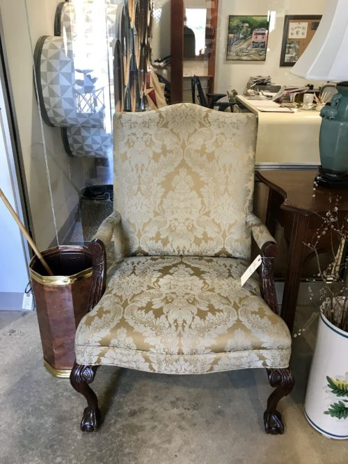 Damask Upholstered Chair