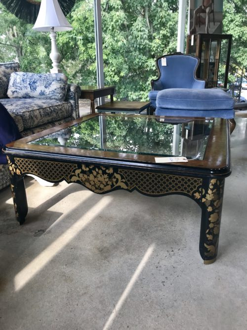 Drexel Asian Glass Coffee Table