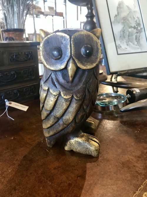 Gold Wood Owl