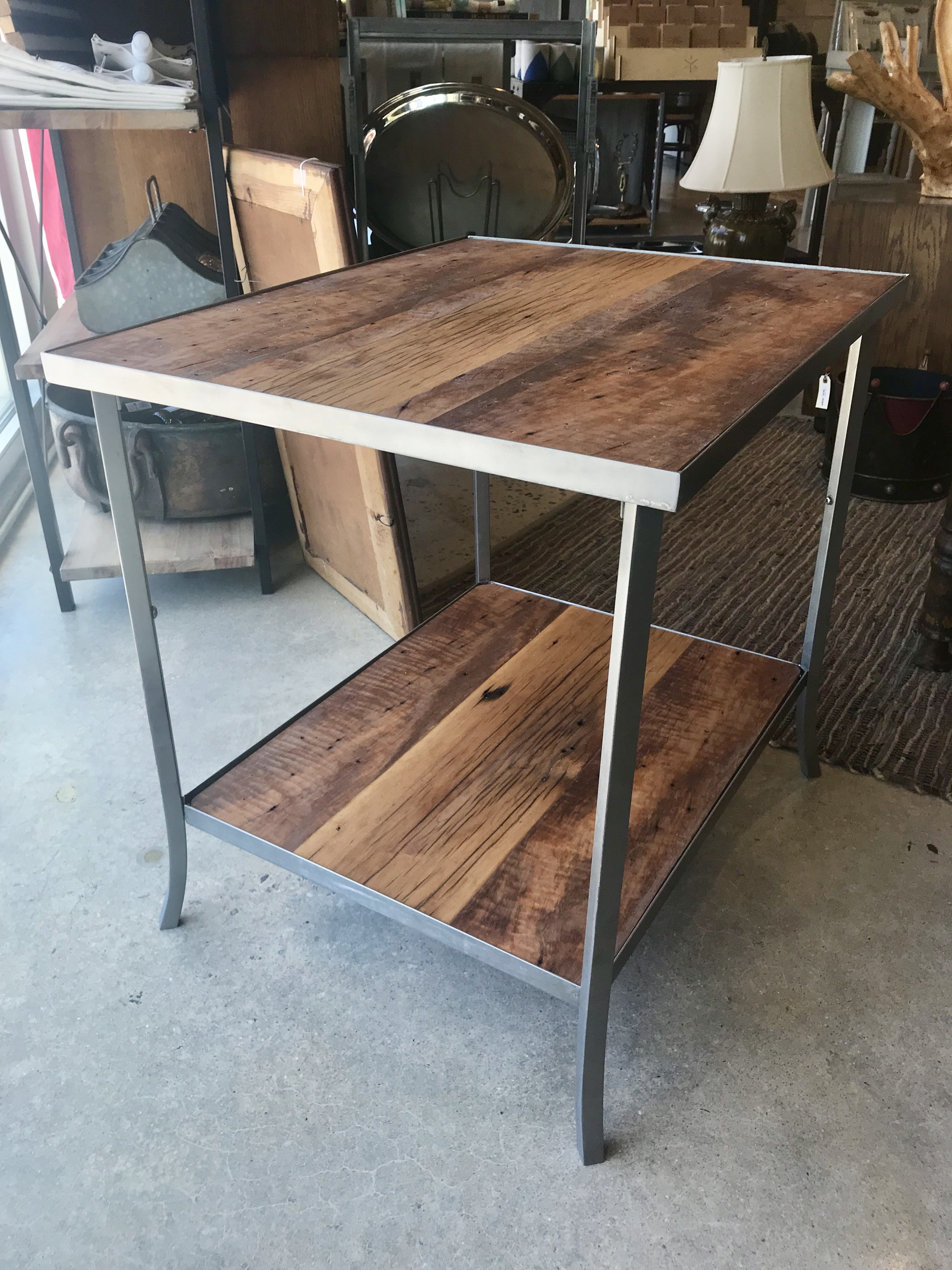 Reclaimed Maple End Table