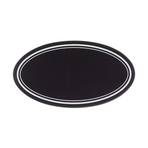 oval black chalk label