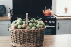 fall basket of lady apples