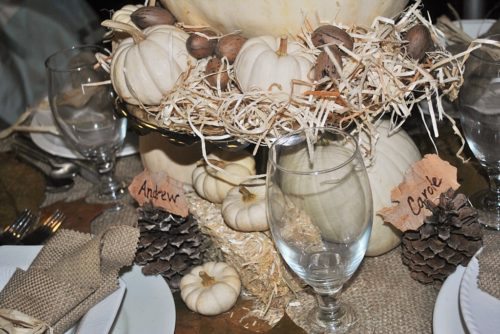 white pumpkins fall decor ideas