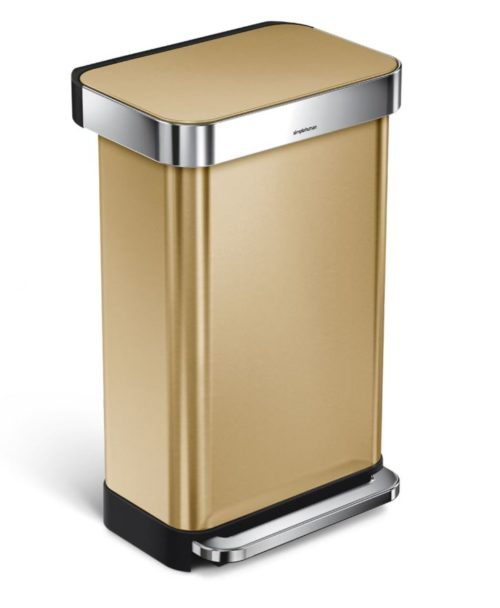 gold brass garbage step can sixteen ingenious ideas for the home