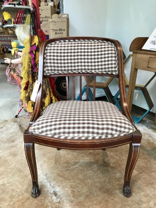 Brown Check Chair