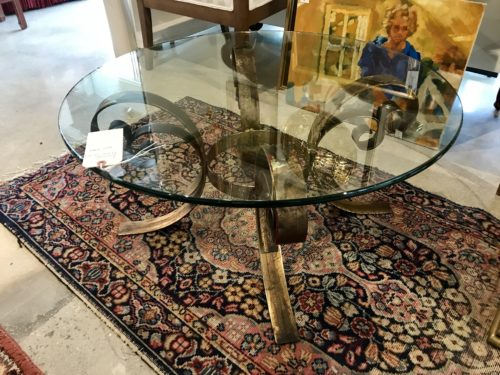 Gold Tole Coffee Table