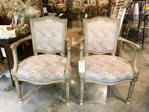 Pink Baker Chairs Pair