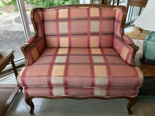 Plaid Chair and a Half