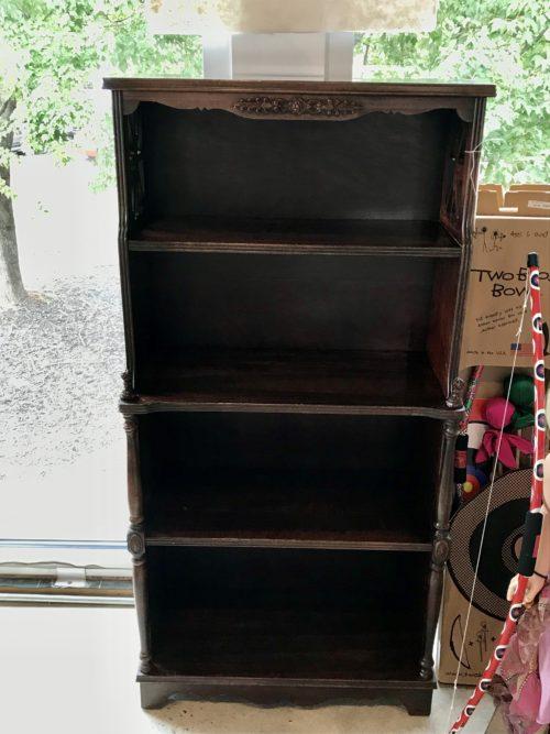 Tiered Mahogany Bookcase