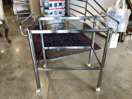 Chrome and Glass Bar Cart