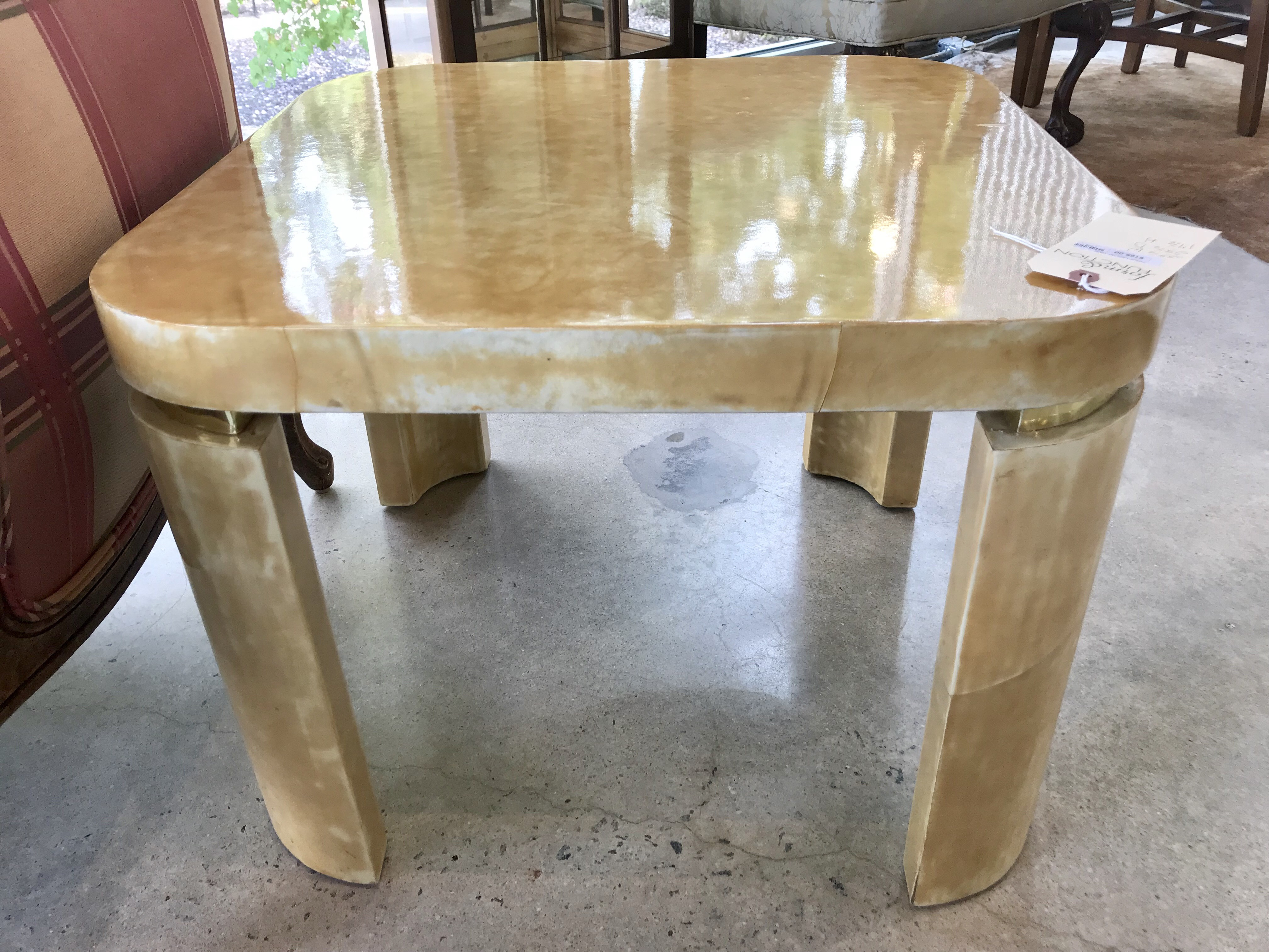 Yellow Lacquer Side Table