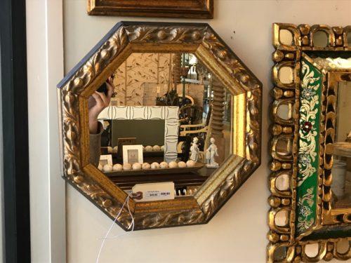 Gold Hex Mirror