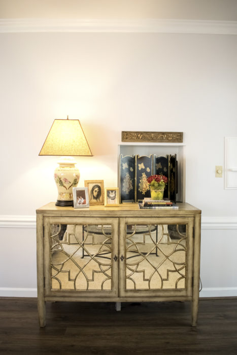 mirror glass cabinet chest