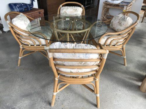 Rattan Table Set