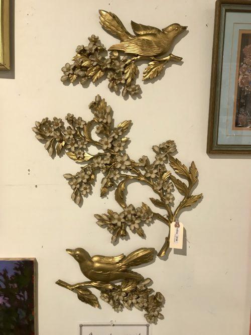 Gold Bird Plaque Set