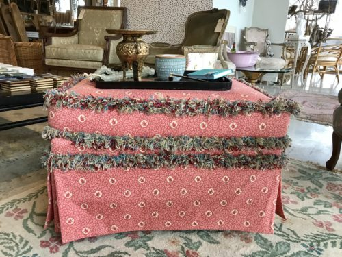 Pink Monkey Ottoman