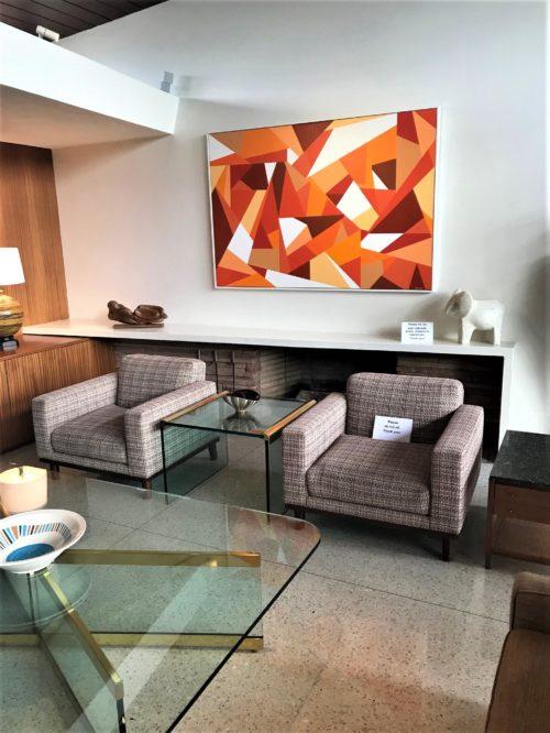 modern low fireplace mantel