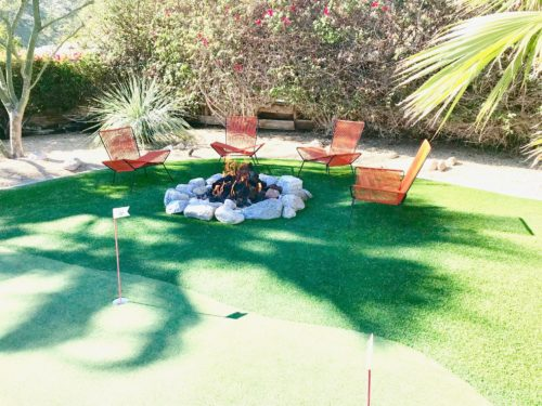 modern outdoor landscape putting green