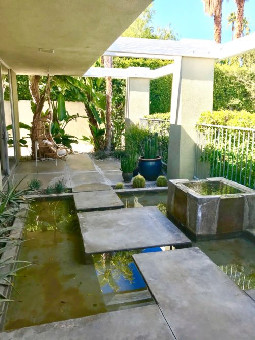 modern outdoor asian fountain