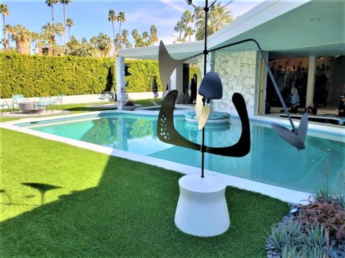 modern pool design modern outdoor sculpture
