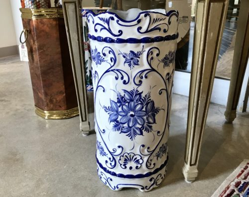 BW Ceramic Umbrella Stand