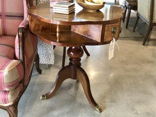 Burl Wood Side Table