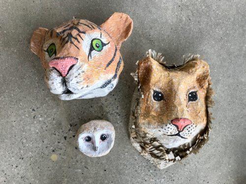 Paper Mache Heads