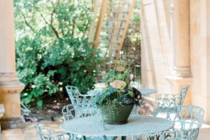 outdoor covered porch potted plants