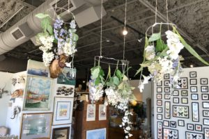 silf faux floral hanging wreaths