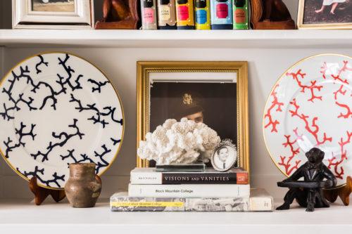 coral decorative plates family photos