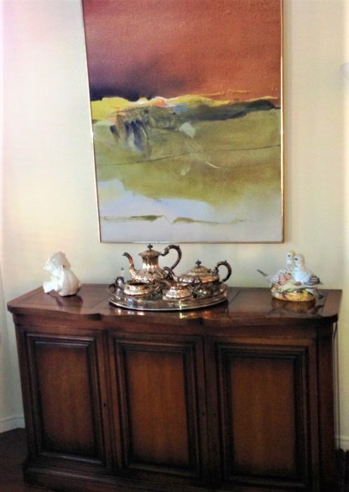 1940s traditional sideboard modern abstract art