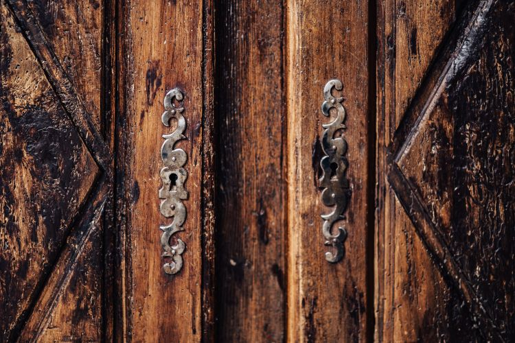 imperfect antique wood door hardware
