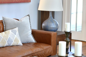 living room coffee table styling gourd table lamp