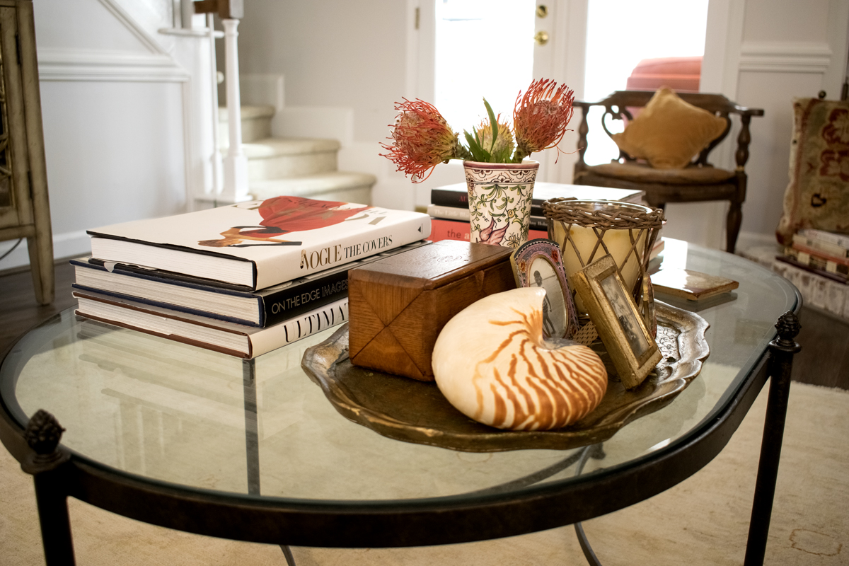 Glass Iron Coffee Table Styling