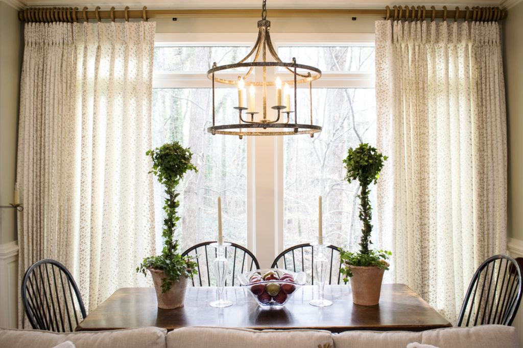 tree branch fabric curtains