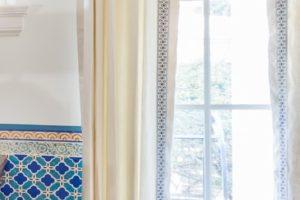 custom curtains decorative embroidered trim texture in design