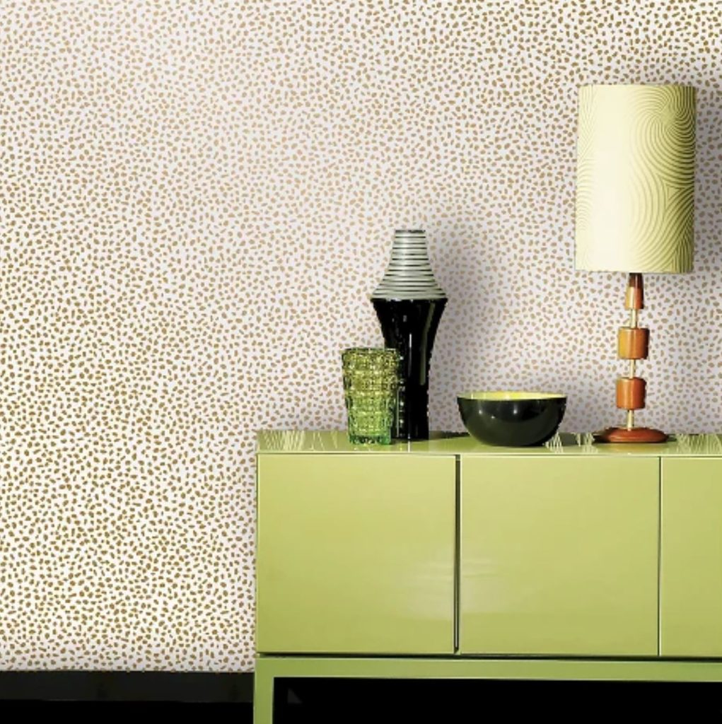 speckled gold dot removable wallpaper