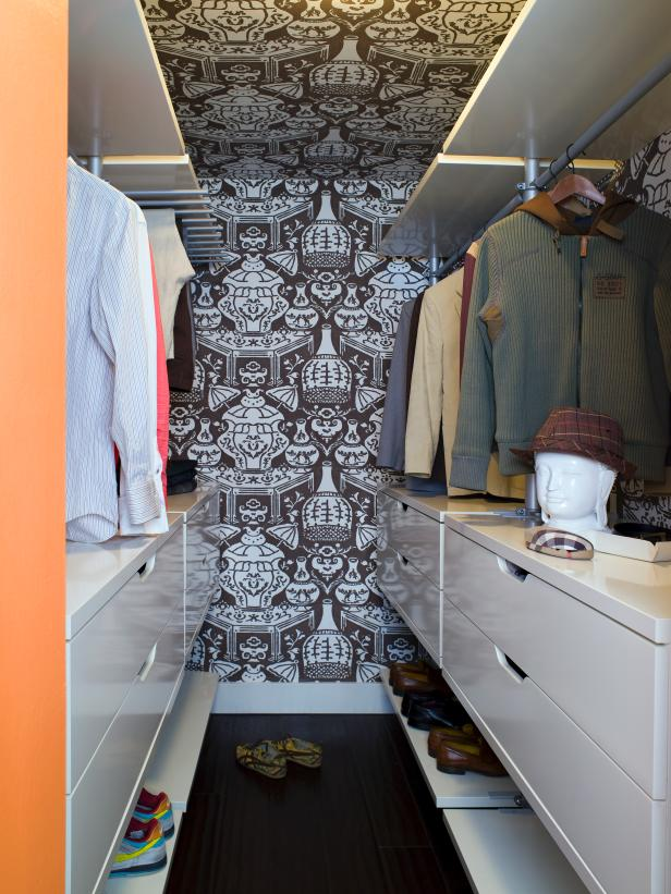 what to do with your walls wallpaper in closet
