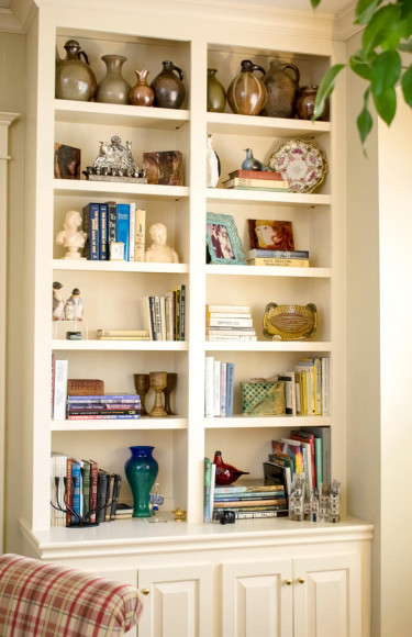Bookcase Styling Pottery Collection
