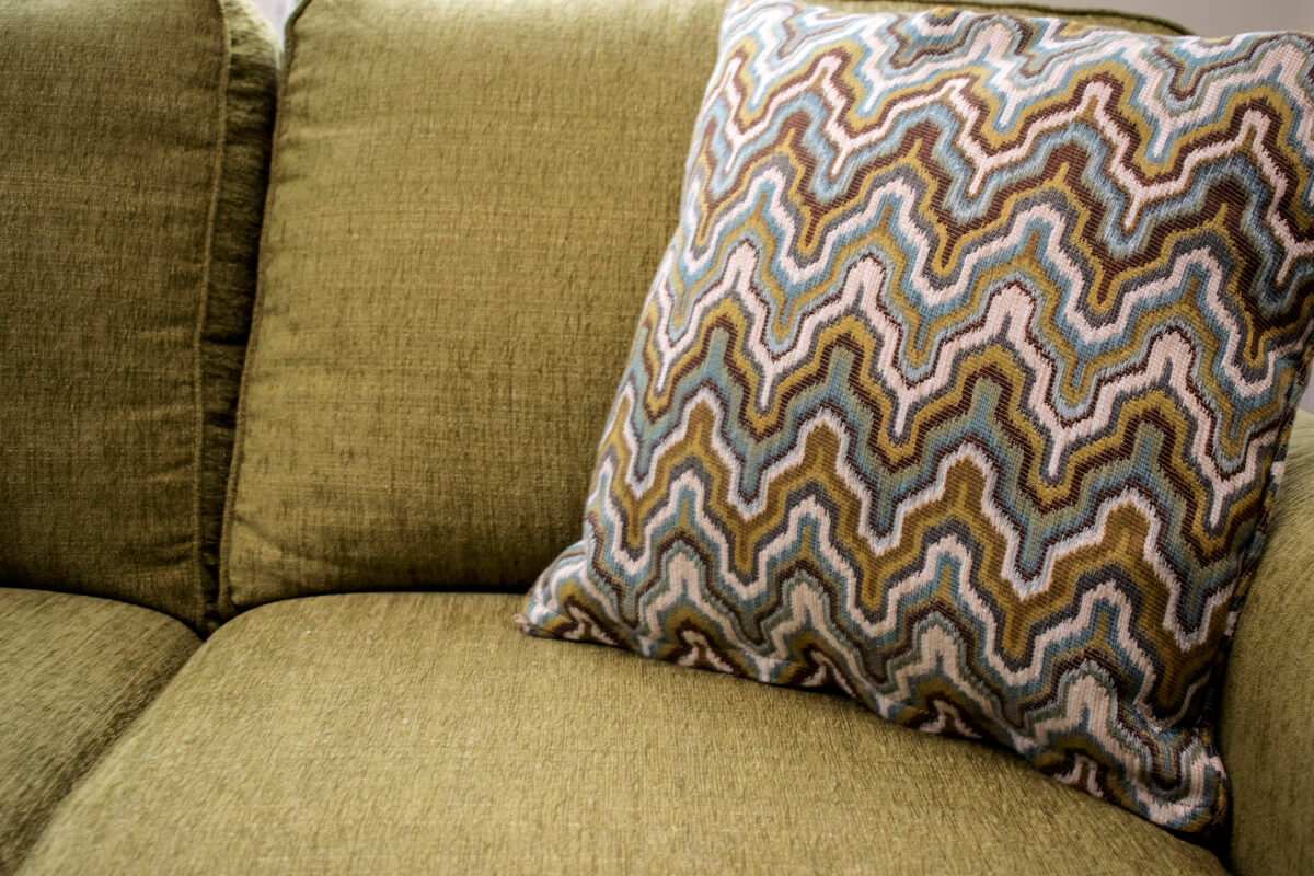 Chartreuse Green Sofa Ikat Pillow
