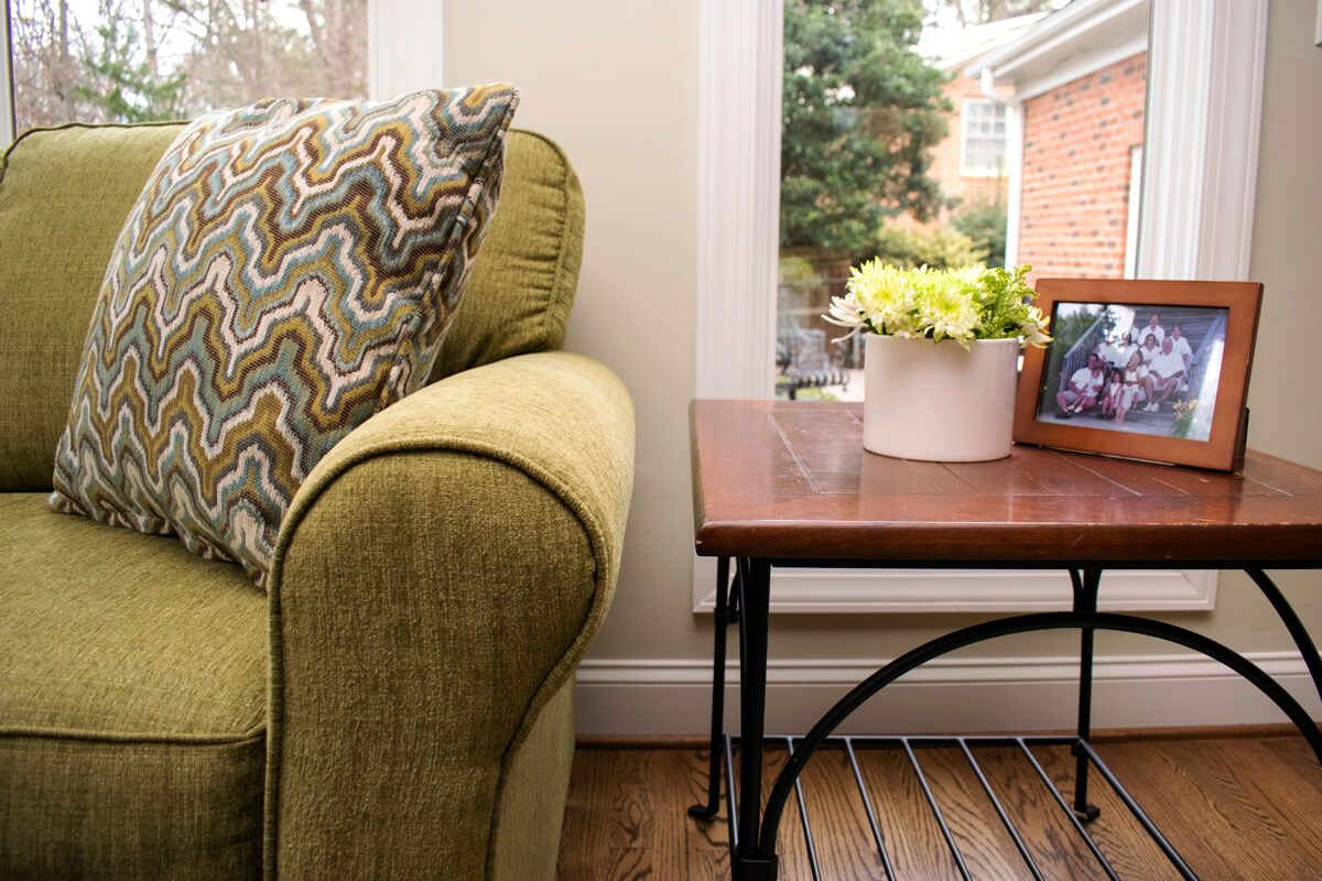 Chartreuse Sofa Side Table