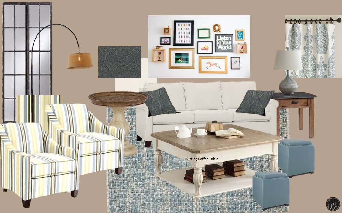 Country Coastal Beach Living Room