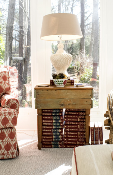 Deep Coral Chair Rustic Garden Chair