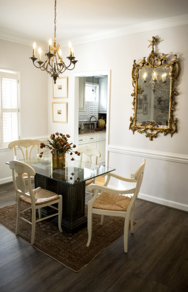 Dining Room Chandelier Gold Mirror