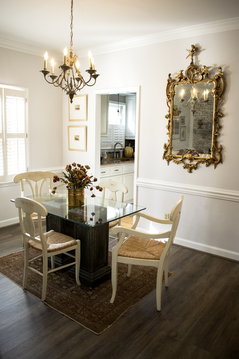 Dining Room Chandelier Gold Mirror