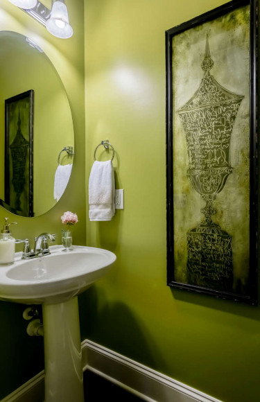 Green Chartreuse Powder Room